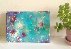 Whirl Abstract Painting, Acrylic on Canvas by JessicaFraserArt on Etsy