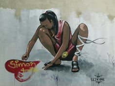 Geneva Geneva, Street Art, Wonder Woman, Superhero, Painting, Fictional Characters, Painting Art, Paintings, Fantasy Characters
