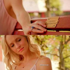 [7x01]  I miss Liz   -  #qotd : Caroline or Liz?  #aotd : Care  -  My edit give credit  ic ; @tvdfridays