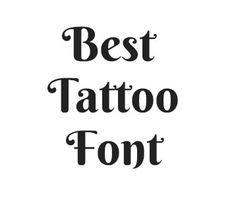 70 Best Tattoo Fonts