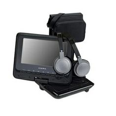 """Audiovox Portable DVD Player. 7"""" Color Swivel Screen. Includes Mount,AC and Car Adaptor."""