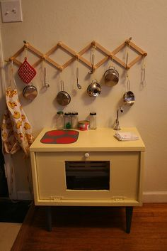 hang over play kitchen for storage