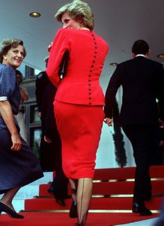 Diana during a visit to the Australian Parliament in Canberra in January 1988.