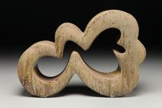 Eric Knoche Studio - new work Cloud    Wood fired stoneware with slip    16 x 25 x 7    Photo by Tim Barnwell