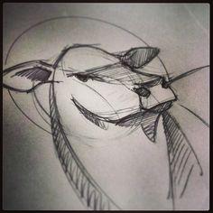Break it down, say moo. #sketch #Angus #beef #logodesign