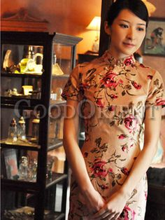 New Girls Summer National Style 3 Colors Collar Holiday Cheongsam Dress