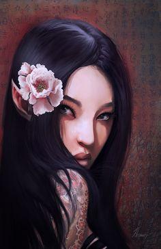 Asian Elf by ~HELMUTTT on deviantART