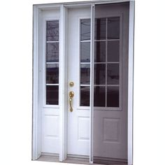 Emco 34 Inch Width 400 Series Self Storing White Door