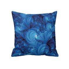 Stormy Seas Fractal Throw pillow