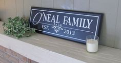 Personalized Carved Sign with Family Name by glennscustomcreation, $34.00