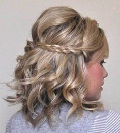 Braided Hairstyle for Short Curly Hair