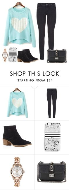 """Take me far away"" by cecilialukas ❤ liked on Polyvore featuring Paige Denim, Steven by Steve Madden, Rianna Phillips, Coach and Valentino"