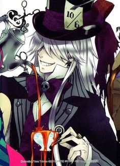 Kuroshitsuji (Black Butler). Undertaker as the Mad Hatter is one oft favorite characters in a OVA.