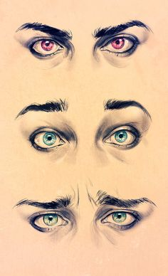 Realism Eyes - Expression study by ElephantWendigo.deviantart.com on @deviantART