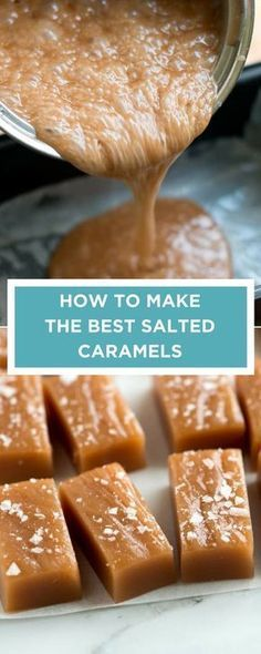 The BEST salted caramels! Caramel Recipes, Chocolate Candy Recipes, Toffee, Konfekt, Salted Caramels, Salted Caramel Fudge, Caramel Candy, Holiday Recipes, Home Recipes