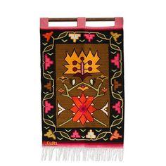 Wool tapestry - Night Flower | NOVICA