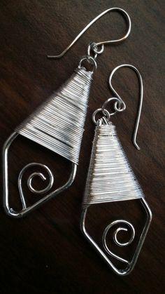 Silver plated, wire, dangle, earrings, long, metal, wrapped, hooks, Pierced, handmade,custom, women,girl, gift,christmas, set, free shipping