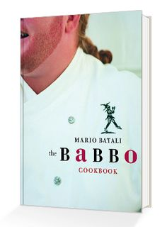 A cookbook filled with Mario Batali's signature recipes from Babbo.