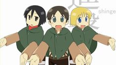 Nichijou and Attack on Titan Crossover! Eren's hips dough... 0:14
