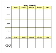 Weekly Meal Planner Inserts  Menu Planner Monthly Meal