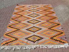 Turkish Kilim Rug Natural Wool Denizli Tavas Area Flat Weave 6' x 10 '   eBay