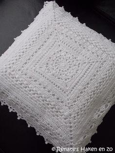 Gehaakt kussen (met link naar gratis patronen) / crochet cushion (with link to free patterns)