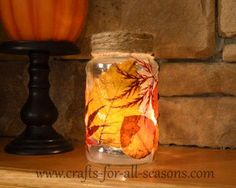 Decoupage leaves. http://www.crafts-for-all-seasons.com/decoupage-leaves.html