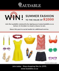 Kim Gray Comp Win a R2000 shopping spree with Laudable