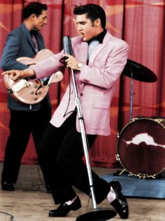 Elvis Presley - A man ahead of his time! Daisy grandma just LOVED this man along with millions of others. Still love his music and he died too young..look he wore pink too ;)