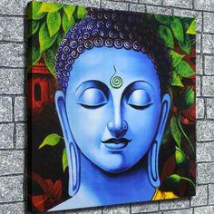 Buddha Wall Painting, Budha Painting, Buddha Wall Art, Cavas Painting, Indian Art Paintings, Modern Art Paintings, Buddha Canvas, Flower Art Drawing, Cubist Art