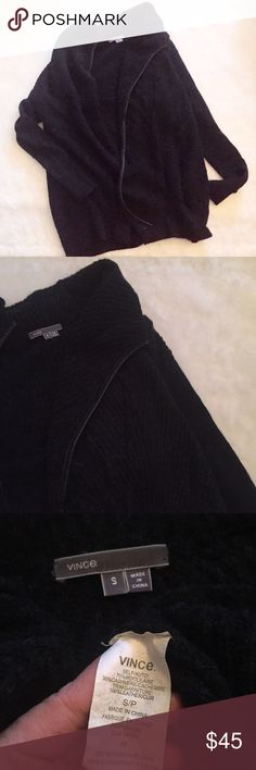Vince cashmere wool blend small black cardigan Excellent condition highest quality Vince Sweaters Cardigans