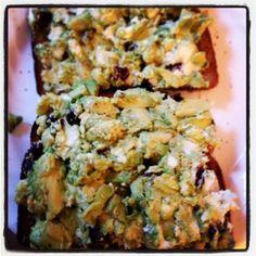 Saturday Snack: Avocado & Goat Cheese Toast