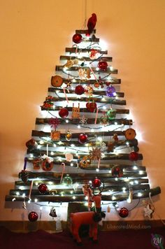 Stick Holiday Tree | Branches Christmas Tree | LiberatedMind.com