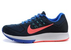 Nike Air Zoom 683731-400 Structure 18 Flywire Men s Sports Shoes Black Blue 15b12adc25bb