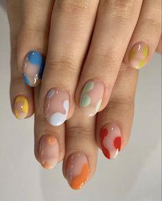 Funky Nails, Trendy Nails, Stylish Nails, Colorful Nails, Funky Nail Art, Black Nail Art, Pastel Nails, Easy Nail Art, Cool Nail Art