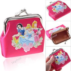 Snow White Style Coin Bag Moneybag Pouch Purse Wallet for Girl Women Lady - Color Assorted NBG-70161
