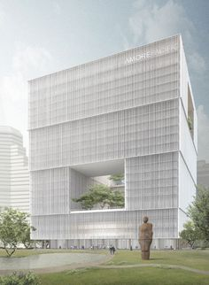 Amorepacific Headquarters, Seoul, South Korea, 110 m, proposed, architect-David Chipperfield Architects.  http://www.skyscrapercenter.com/building/amorepacific-headquarters/17754