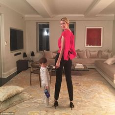 Strike a pose: Ivanka Trump and her son Joseph show off their moves in a sweet 'date night' Instagram post