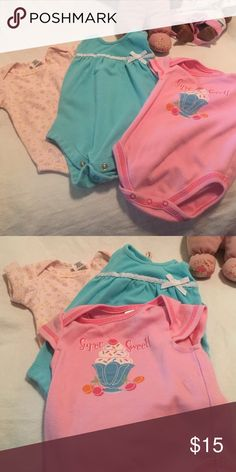 EUC onesies for baby girl-just reduced in $$ $5 each or 3 for 12$..will sell together or individually. Fisher Price & Garanimals One Pieces Bodysuits
