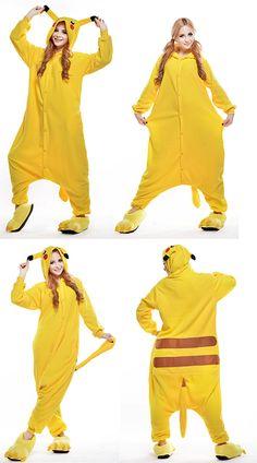 Adult Pikachu Couples Onesies Kigurumi Hoodie Sleepsuit Costume b1a1a2195f51