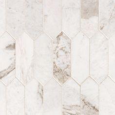 Bianco Orion Picket Marble Mosaic – 12 x 15 – 100464817 – Backsplash Tile Marble Wall, Marble Mosaic, Mosaic Tiles, Wall Tiles, Marble Bathroom Floor, Marble Columns, Marble Bathrooms, Bathroom Flooring, Unique Tile