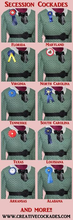 dresses from the southern belle era Civil War Secession Cockades for Southern Belles Victorian Era Dresses, Victorian Gown, Victorian Costume, Civil War Art, Civil War Dress, Stone Drawing, Southern Belle Costume, Military First, Confederate States Of America
