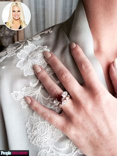 Celebrating the marriage of Jessica Simpson & Eric Johnson. July 2014 | Stunning diamond wedding ring and exquisite diamond and ruby engagement ring. Gorgeous!