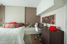 8 quartos decorados com armários suspensos