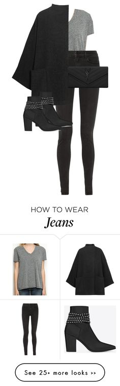 """Untitled #9337"" by alexsrogers on Polyvore featuring J Brand, Acne Studios and Yves Saint Laurent"