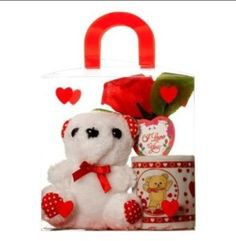 Valentine Day Gifts, Valentines, Love Bear, Romantic Gifts, Gifts In A Mug, Red Roses, Plush, Miniatures, Teddy Bear