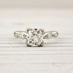 This is STUNNING! Carat Old European Cut Diamond Vintage Engagement Ring. LOVE this company, obsessed with their vintage rings Vintage Diamond Rings, Vintage Rings, Vintage Jewelry, Antique Engagement Rings, Diamond Engagement Rings, European Cut Diamonds, Diamond Are A Girls Best Friend, Band, Diamond Cuts