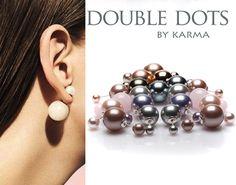 De 'Double Dots' van Karma behoren bij de laatste trend! Vele BN'ers en celebrities gingen jou voor. De oorbellen zijn gemaakt ven sterling zilver gecombineerd met een imitatie parel of kristallen. Creëer jouw eigen Double Dots door de bollen met elkaar te combineren. De bollen hebben een afmeting van 6/14 mm en 8/16 mm.