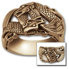 14KW Winged Dragon Wedding Ring
