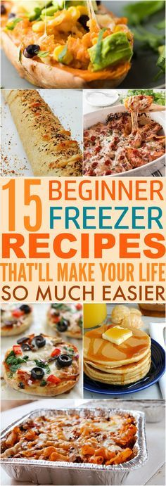 40 Quick Freezer Meal Prep Ideas That'll Make Your Life Much Easier These 15 Quick & Easy Freezer Meal Prep Recipes Are AMAZING! They save so much time, and even help to save money! Make Ahead Freezer Meals, Freezer Cooking, Frugal Meals, Quick Meals, Meal Prep Freezer, Microwave Freezer Meals, Easy Freezable Meals, Veggie Freezer Meals, Best Meals To Freeze